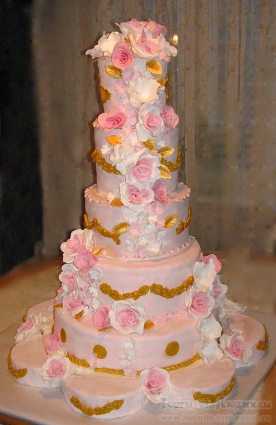свадебный многоярусный торт на заказ