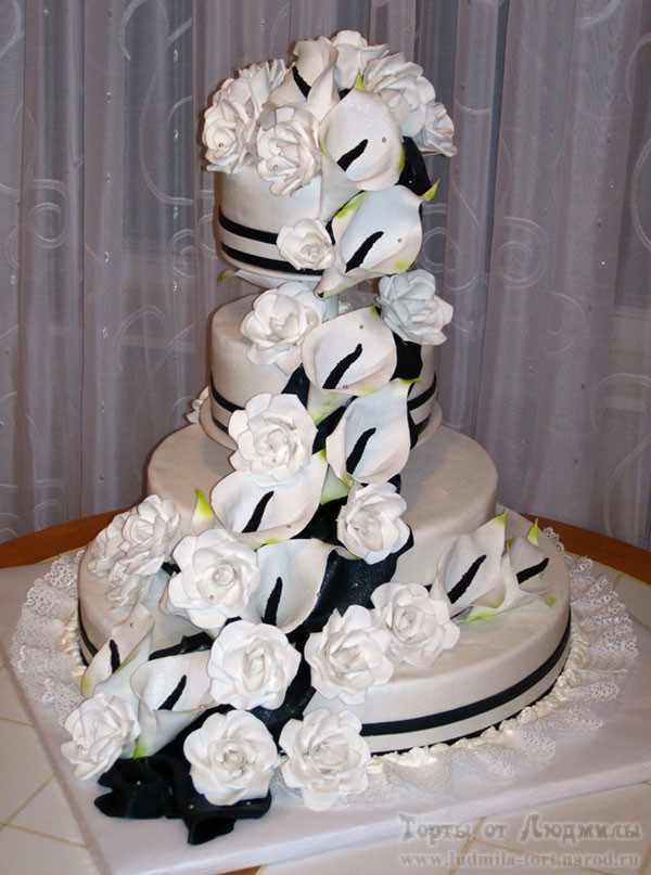 свадебный торт на заказ фото