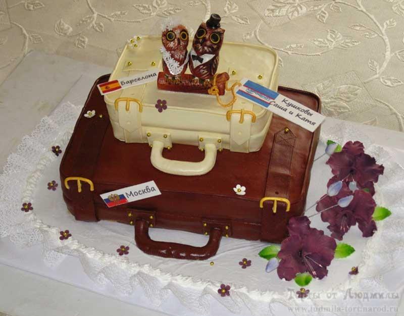 необычный свадебный торт с фигурками